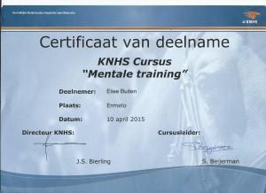 KNHS Cursus Mentale training
