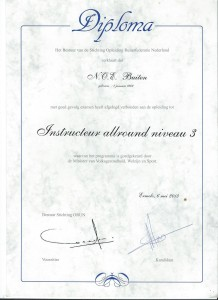 Instructeursdiploma; Niveau 3 - Allround