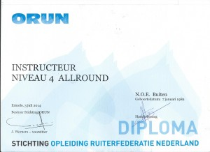 Instructeursdiploma; Niveau 4 - Allround