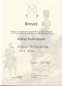 Militair Ruiterbewijs Brons
