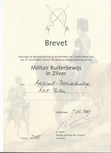 Militair Ruiterbewijs Zilver